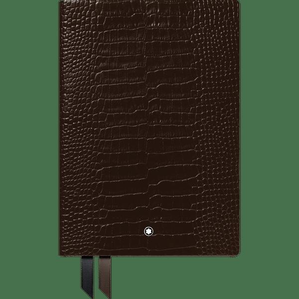 Montblanc-Fine-Stationery-Cuaderno--146-grabado-caiman-marron-oscuro