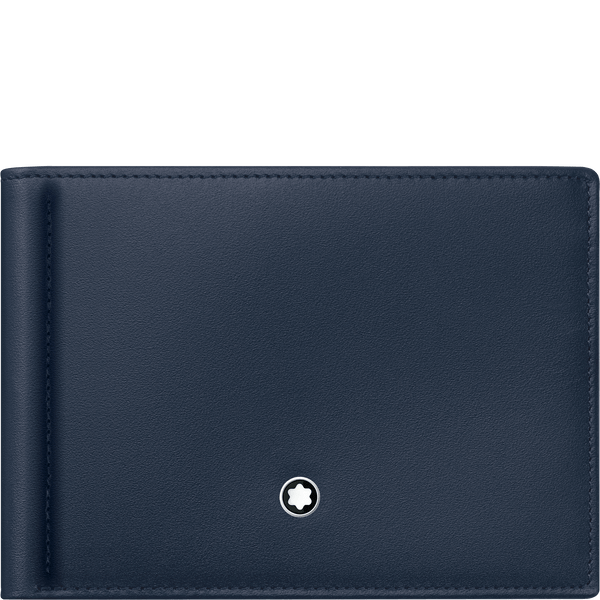 Cartera-Meisterstuck-pequeña-para-6-tarjetas-con-pinza-para-billetes