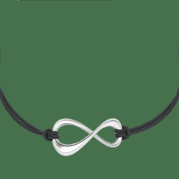 Infiniment-Votre-Pulsera-de-cuerda-y-plata