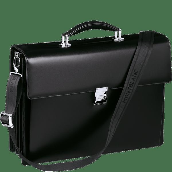 Meisterstuck-Maletin-con-triple-fuelle-con-compartimento-para-ordenador-portatil