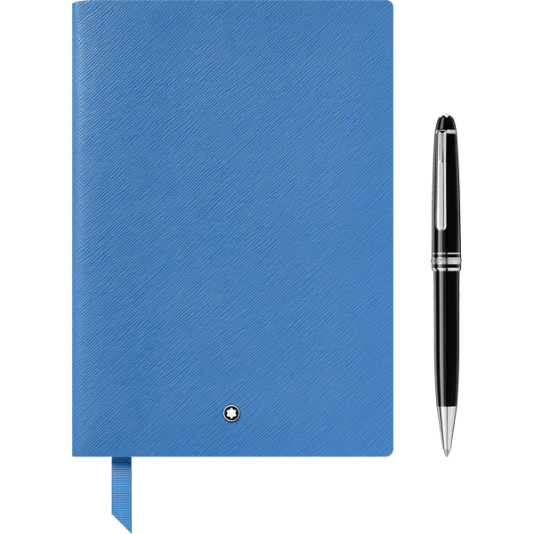 Set-de-regalo-Meisterstuck-Classique-platinado-Boligrafo-y-Cuaderno--146-azul-technicolor