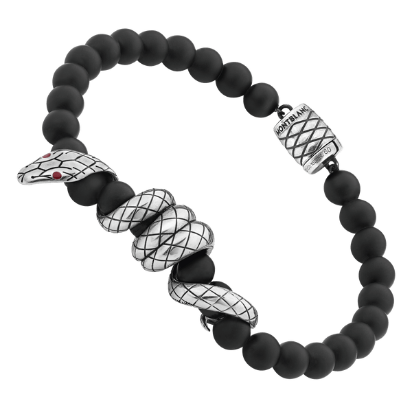 124054---Onyx-beads-bracelet-with-serpent-detail-in-silver_1837405