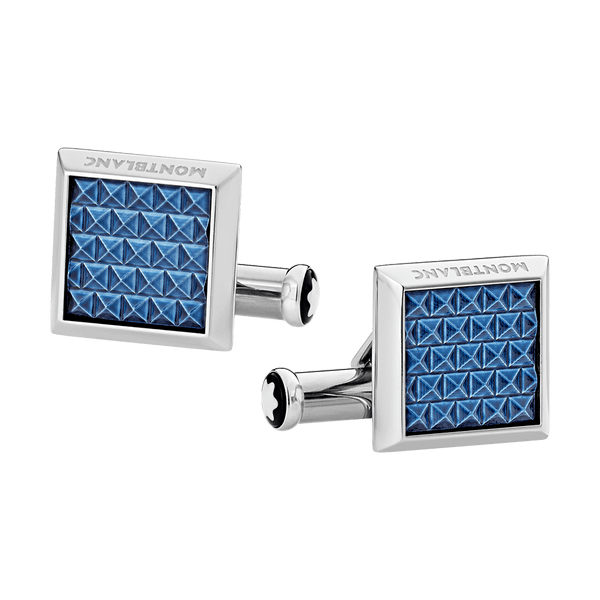 123805---Cufflinks-rectangular-in-stainless-steel-with-blue-patterned-inlay_1842771